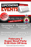 Variety of Coming Events