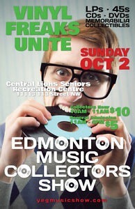 EMCS Sunday Oct 2 Tons of Vinyl Records LPs 45s etc!