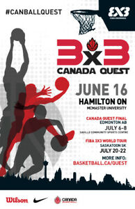 Volunteer at The Canada Quest Basketball Tournament @Mac!