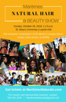 VENDORS WANTED - 3rd ANNUAL MARITIMES NATURAL HAIR & BEAUTY SHOW