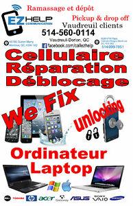 Vaudreuil Client for Cellphone,Laptop Repairs,Unlocks,Accesories