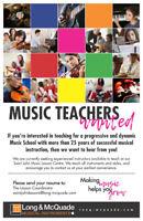 Long & McQuade: Music Teachers Wanted!