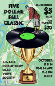 Five Dollar Fall Classic vinyl records garage sale - Oct 13 & 14