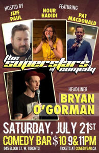 The Superstars of Comedy - Saturday, July 21st