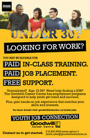 Unemployed? Age 15-29? Get PAID in class training!