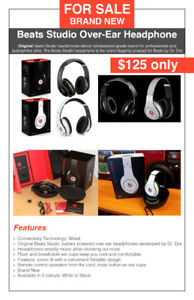 Beats Studio Wired Headphone - $125 only