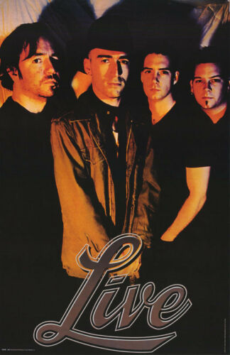 POSTER : MUSIC : LIVE - ALL 4 POSED   - FREE SHIPPING !   #6196     RC40 L