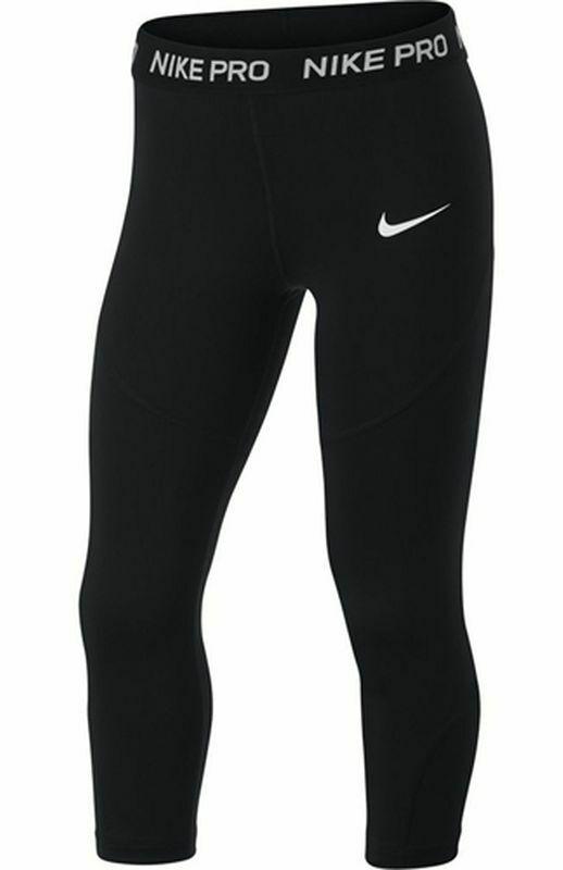 Nike Kinder Mädchen Stretch Sport Freizeit Capri Hose Leggings Pro Tight AQ9041