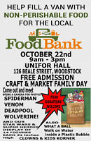 FAMILY DAY EVENT: FOOD BANK DRIVE; Spiderman/Deadpool more