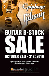 Gibson Guitar B-Stock Sale at Long & McQuade Woodstock