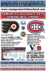 Voyage au Canadiens de Montreal 5 nov 2016