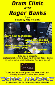 DRUM CLINIC & Sale with Roger Banks @ Erie Music