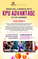 Kwantlen University Summer Math Tutoring forHigh School Students