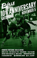 E-Ville Roller Derby 10th Anniversary Booth
