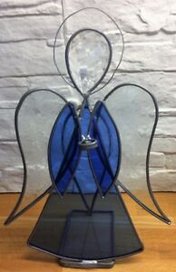 Stained glass angel - Christmas tea light holder