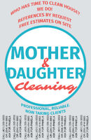 Mother Daughter Cleaning