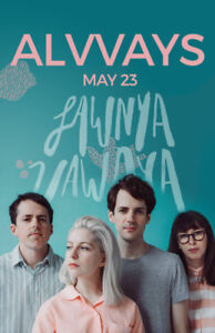 One ticket to Alvvays at Club One May 23 - $40 all in