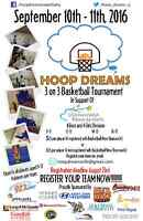 Hoop Dreams 3 on 3 basketball Tournament - For Childrens Wish