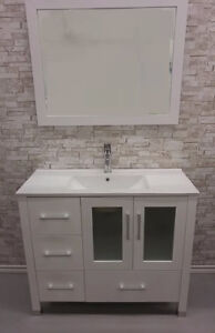 "40"" White Bathroom Vanity"