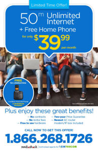 CIK Unlimited internet + Free Home Phone in just $39.99