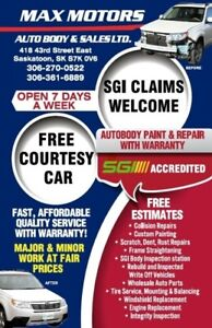 SGI claim Auto body repair and paint shop with warranty