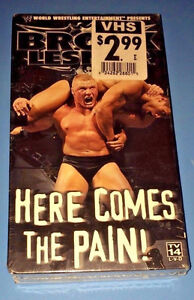 WWE - Brock Lesnar: Here Comes the Pain (VHS, 2003) New/Sealed