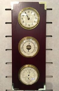 Tempo clock and barometer, thermometer, hygrometer