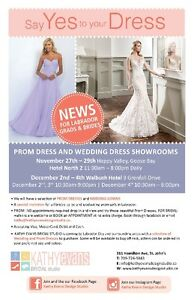 PROM AND WEDDING DRESSES COMING TO HVGB AND WABUSH