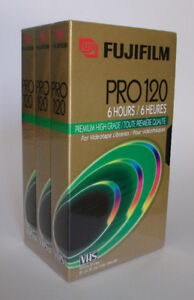 NEW BLANK FujiFilm Video Tapes (3 pk factory sealed)