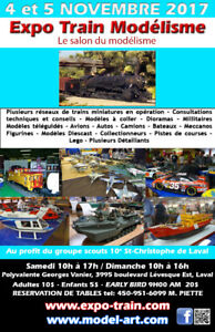 LE SALON DU HOBBY 4 - 5 NOVEMBRE, 2017. L'EXPO-TRAIN MODELISME,