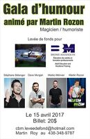 SPECTACLE D'HUMOUR 15 AVRIL, 4 HUMORISTES 20$ SEULEMENT