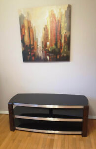 """Whalen Contemporary Bench TV Stand for TVs up to 60"""" - Black"""