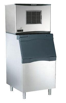 Scotsman 350lb Prodigy Ice Machine Medium Cube And 536lb 30 Ice Bin
