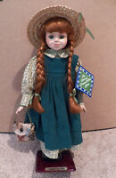 'Anne of Green Gables' Collectible Doll w/ Stand, Has Tag & ID#