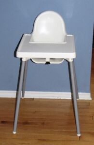 White & Silver High Chair (Used For Grandparents House)