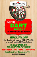 Join Freeman's Fairview Dart League! Starts March 27th!