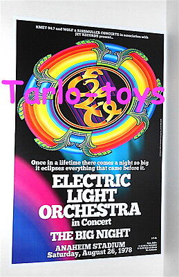 ELECTRIC LIGHT ORCHESTRA - Anaheim, Usa 26 august 1978  - concert poster