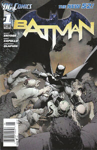 Misc New 52 #1 comics including Batman #1 and #1A