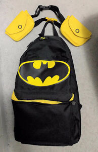 Brand New Batman backpack bag with waist pouches