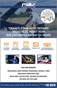 NO CREDIT CHECK AUTO REPAIR FINANCING IS HERE!!