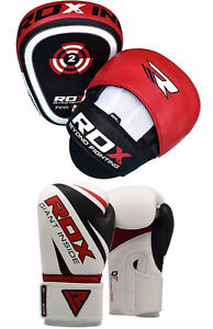 RDX Curved Focus Pads/ RDX 12 or 16oz Boxing gloves 1 SET LEFT!