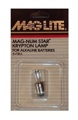MAGLITE Bulb Krypton Replacement 3 Cell Magnum Star USA LMSA301  3 Cell Krypton Bulb