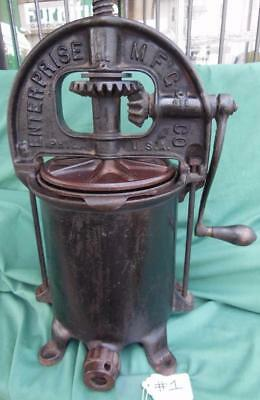 Antique Enterprise Sausage Stuffer Lard Fruit Wine Cider Press Cast Iron Nice 1