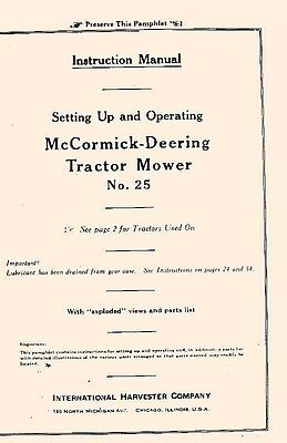 Minneapolis Moline 25 Drill Planter Operators Manual