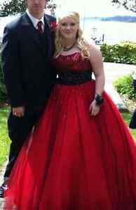 Red Prom Dress for Sale Size 14 only $75