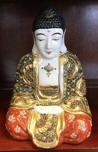 gorgeous signed porcelain Buddha, ORIGINAL PIECE