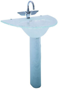 Vintage, Antique, Hectarus ``Elenali`` Glass Pedestal Sink