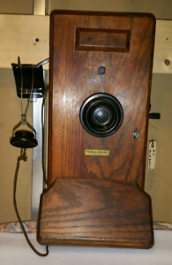 antique Western Electric wall telephone