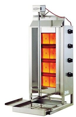 Brand New Axis Ax-vb4 Vertical Gas Gyro Broiler - Free Shipping