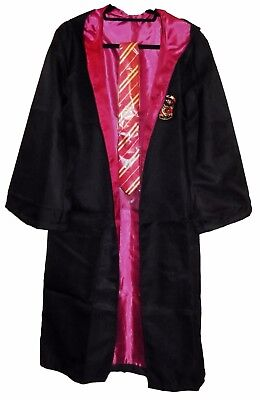 Harry Potter Gryffindor School Crest Adult Size ROBE w/Hood and Tie - Gryffindor Robe And Tie
